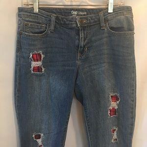 GAP Jeans - Gap Distressed Leggings Jeans plaid Showing Sz 8